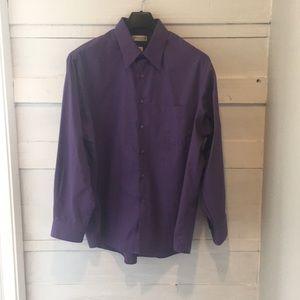 Men's Purple Van Heusen Button Down